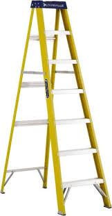louisville 7 ft high type i rating fiberglass step ladder 250 lbs