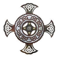 16 celtic cross metal wall art