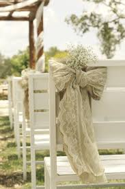 Chair Swag & Wedding Chair Decoration Ideas | Burlap, Burlap lace and Lace  bows