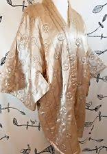 quilted satin robe | eBay & VTG CAROL LITTLE GOLD EMBROIDERED QUILTED SATIN ASIAN KIMONO ROBE BED  JACKET M Adamdwight.com