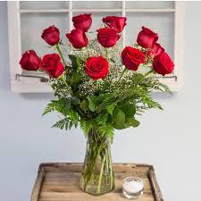 item description edmond red rose vase