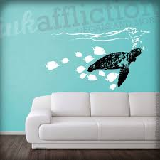items similar to sea turtle wall decal large 40x22 on