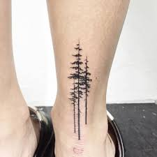 Pine Trees On The Right Achilles Heel Tattoo Little Tattoos