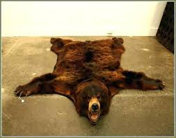 bear skin rug faux photo 5 of pattern fake 6 for brown real uk rugs