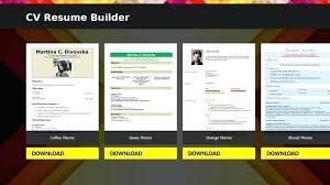 Download Resume Creator Software Free Professional User Manual