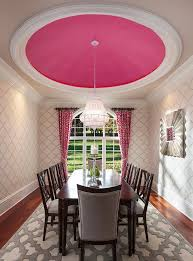 ceiling domes with lighting. lively transitional style dining room with hot pink ceiling dome is a great example when the domes lighting u