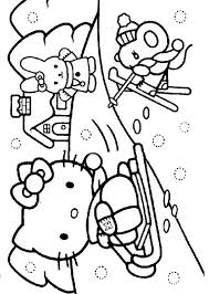 Hello Kitty Winter Coloring Page Kids Stuff Hello Kitty