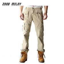 ZOOB MILEY <b>Mens</b> Outdoor Military Cargo Pants <b>Loose Fit Casual</b>