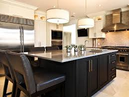 Kitchen, Black Rectangle Modern Wooden Lowes Kitchen Islands With Seating  Stained Design For Kitchen Island