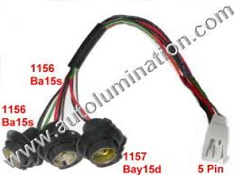 automotive car truck light bulb connectors sockets wiring tail brake reverse turn signal backup rear automotbile wiring harness pigtail connector sockets