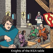 sir arthur the knights of the ikea temple try following the infuriating instructions