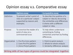 unit comparison and contrast essays what is comparison opinion essay v s
