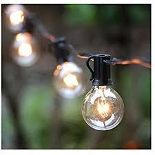 Amazon 25FT G40 Globe String Light with 25 Clear Bulbs