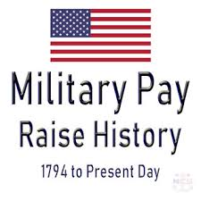 Us Air Force Pay Chart 2009 U S Military Pay Raise History 1794 To Present Day