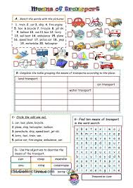 Free Worksheets On Means Of Transport for Grade 1 | Homeshealth.info