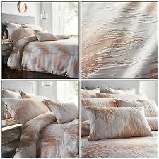 rose gold duvet cover shimmer quartz
