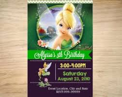 Tinkerbell Invitations Printable Diy Tinkerbell Birthday Party Invitation Tinkerbell