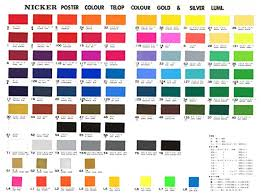 Sakura Poster Color Chart Knicker Poster Color In Bottle 36 Color Set Japan Import By Knicker Paint