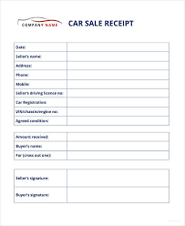 receipt template for car sale 13 car sale receipt templates doc pdf free premium templates