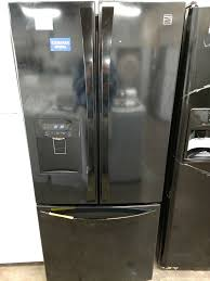 kenmore black refrigerator. kenmore elite black three door fridge refrigerator