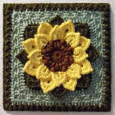 Crochet Sunflower Pattern Custom Ravelry Crocodile Stitch Afghan Block Dahlia Pattern By Joyce