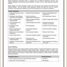 Sample Resume Of Electrician Pdf New Electrical Engineering Resume