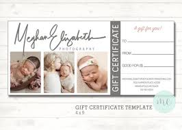 Photography Gift Certificate Template Photographer Gift Certificate Template Gift Card Gift Etsy