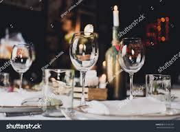 glasses table setting. Beautiful Wedding Table Setting Decor Glasses Stock Photo (Royalty Free) 519101797 - Shutterstock