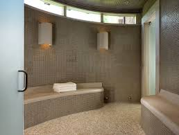 spa bathroom showers: shower and steam room in one space