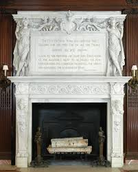 new york city public library fireplace mantel