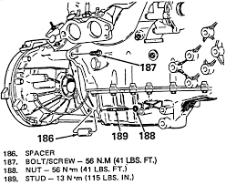 3 engine to transaxle attachment as shown from the rear side 6990 92 2 3l engines