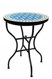 moroccan mosaic table estrella turquoise white ø 60cm