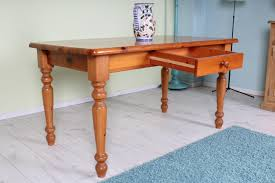 Pine Farmhouse Kitchen Table Solid Pine Kitchen Table Rustic With Lots Of Age Marks