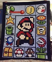 Home-Made 8-Bit Mario Quilt my Aunt made! – Like For Real Dough & Home-Made 8-Bit Mario Quilt my Aunt made! Adamdwight.com