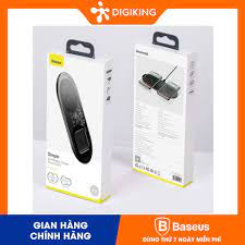 Dock sạc không dây 2in1 Baseus Simple 2in1 Wireless Charger Turbo Edition  24W-TZWXJK-A01 giá cạnh tranh