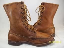 details about vntg abercrombie fitch mens brown leather moccasin boot moc toe 60s hipster 2090