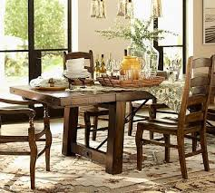 benchwright extending dining table rustic gany stain potterybarn 1800 86 long x 42 wide x 30 high extends up to 122 long seats up to 12