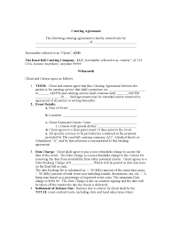 Catering Agreement Catering Contract Template 6 Free Templates In Pdf Word