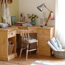 image of solid wood corner desk and chairs