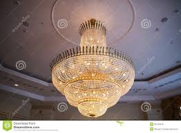 chandelier in the ceremonial hall at dolmabahce palace the