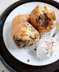 dark chocolate chunk popovers with