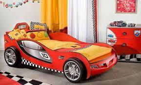 red superb racing car beds for kids design