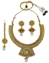 matra indian ethnic traditional goldtone kundan necklace set bollywood women jewellery you can