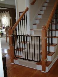retractable baby gates for stairs with railings