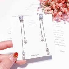 MENGJIQIAO <b>2019 Korean</b> New Simple Big <b>Simulated</b> Pearl Beads ...