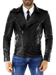 details about mens leather biker motorcycle jackets genuine lambskin winter designer su78