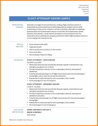 Flight Attendant Resume Experience Resumes