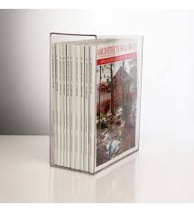 Clear Acrylic Magazine Holder Delectable Traditional Acrylic Magazine Holder Of In Storage Boxes