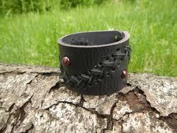black leather wide bracelet fantasy leather bracelet mens leather bracelet