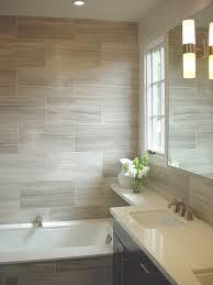 Tile Ideas for Small Bathrooms Bathroom Contemporary with Bathroom Window  Dark Vanity